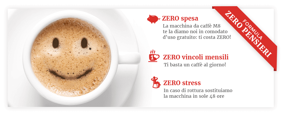 formula zero pensieri caffè in comodato d'uso gratuito